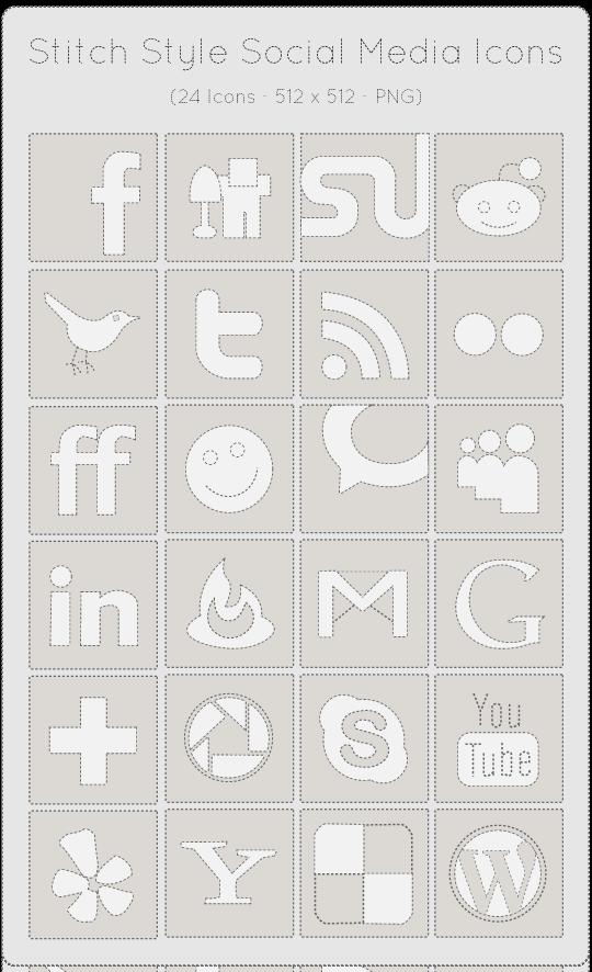 stitch-styled-icon-set