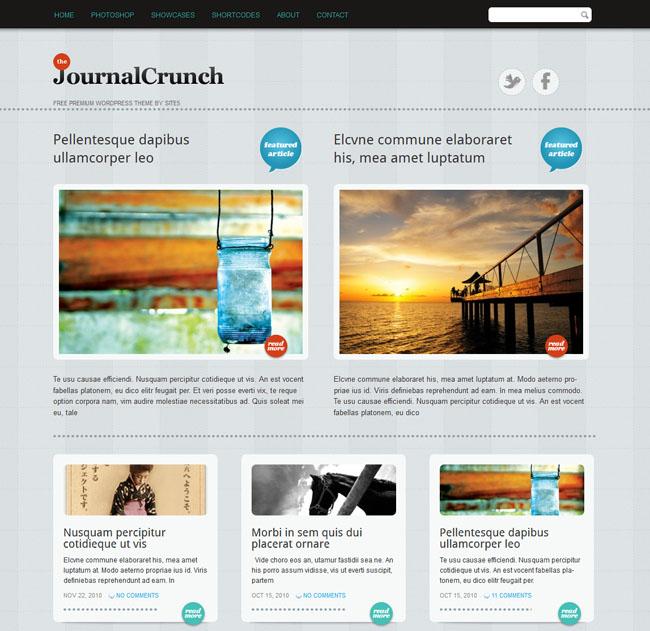 magazine wordpress themes Journal-Crunch