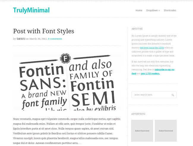 magazine wordpress themes Truly-Minimal-Theme
