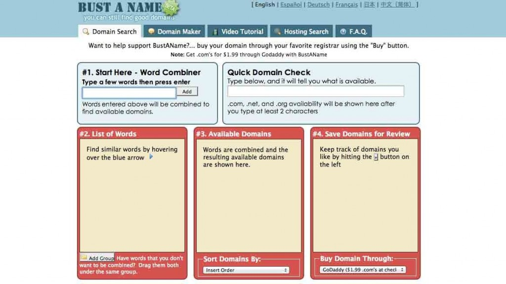 tools for finding the best domain names