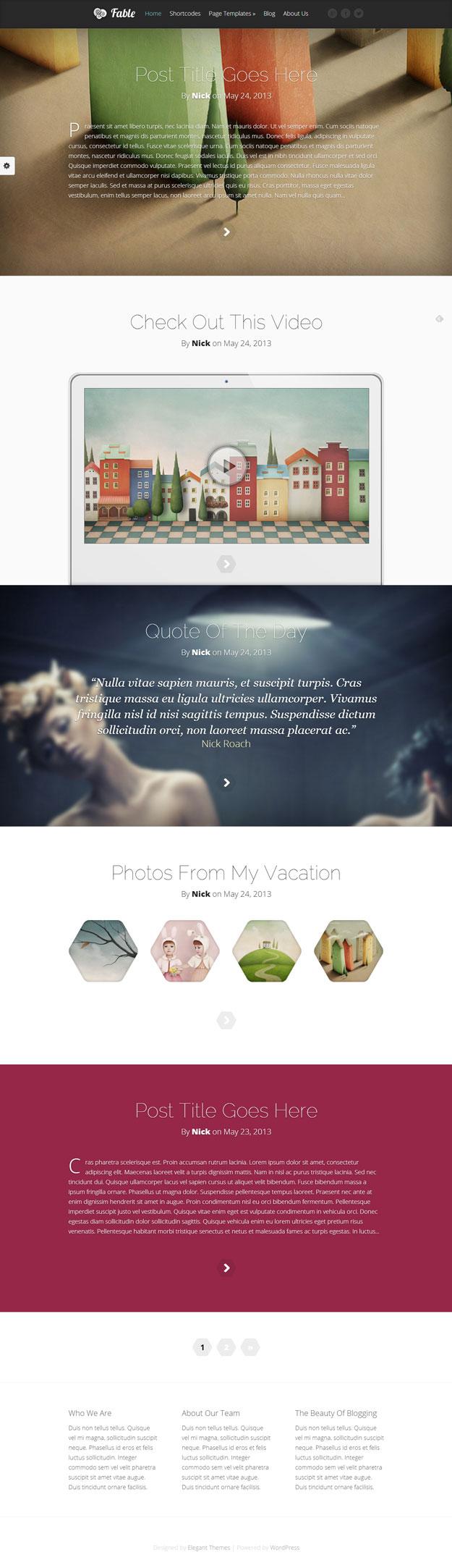 fable tumblr like wordpress theme