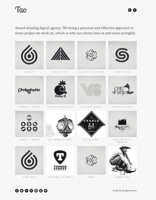 tao wordpress minimal themes