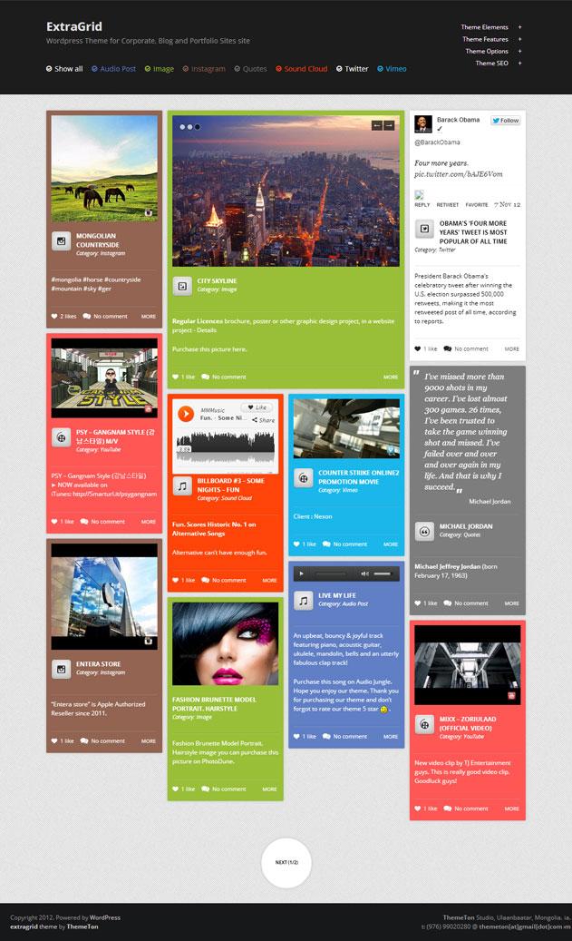 extragrid wordpress theme