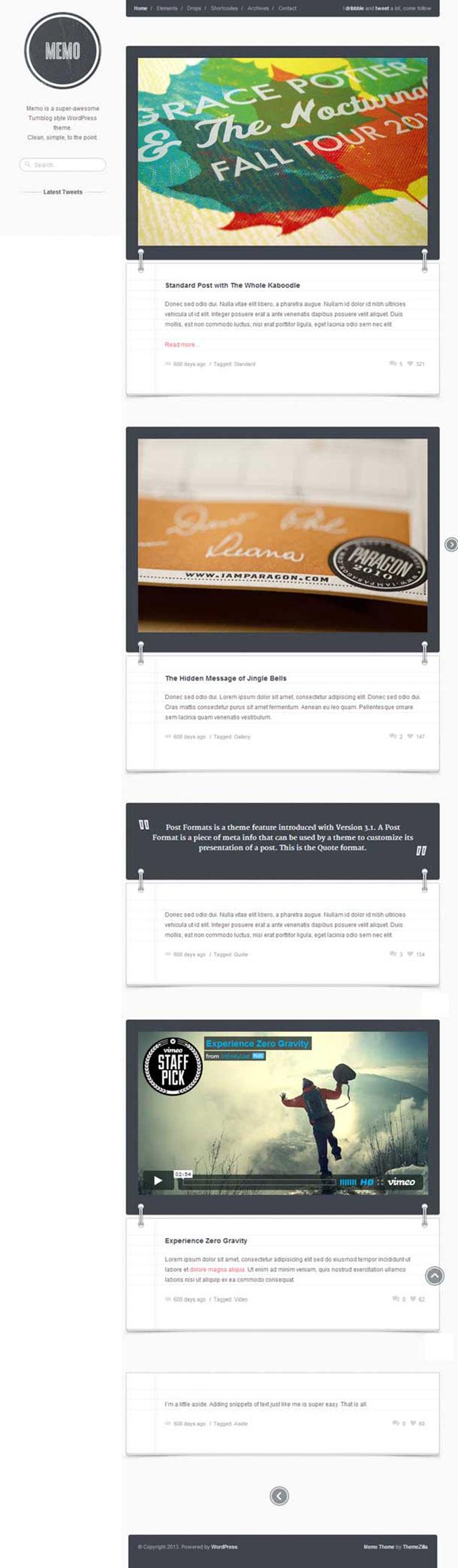 memo wordpress theme
