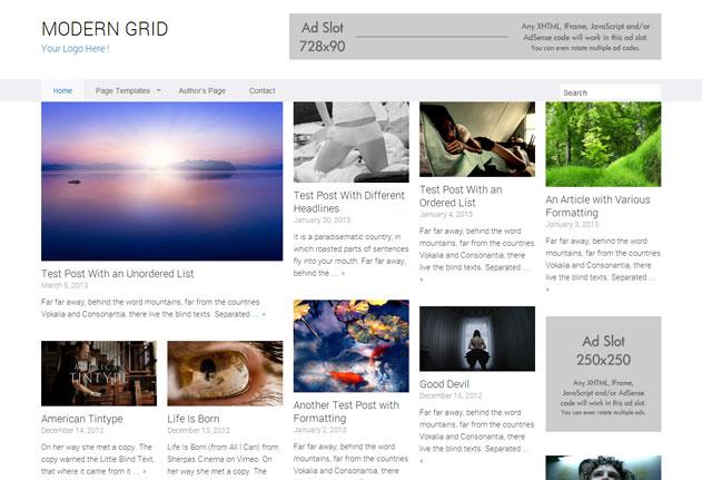 modern grid wordpress theme