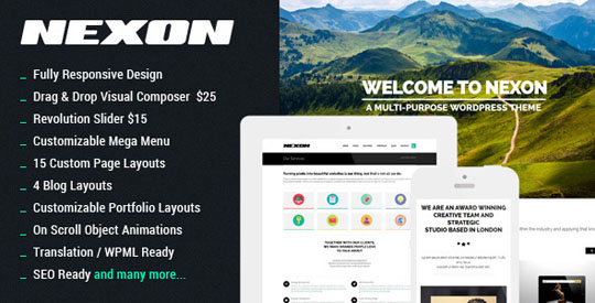 nexon wordpress minimal theme