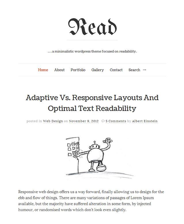 read minimalist wordpress themes