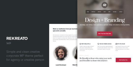 rekreato minimalist wordpress theme