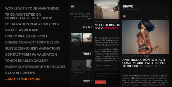 brave wordpress theme