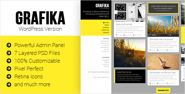 grafika wordpress theme
