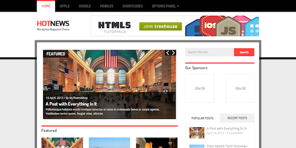 hotnews wordpress theme