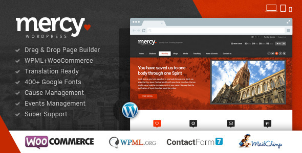mercy ngo wordpress theme