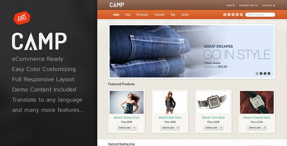 camp wordpress theme