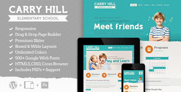 carry hill school wordpress theme