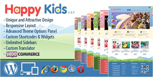 happy kids wordpress theme