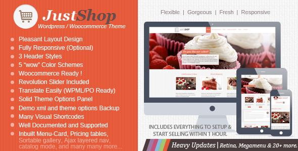 just shop wordpress theme