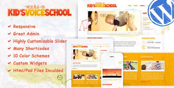kids voice school wordpress theme