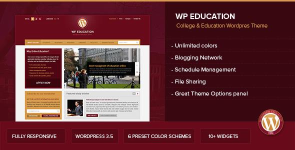 wp education wordpress theme